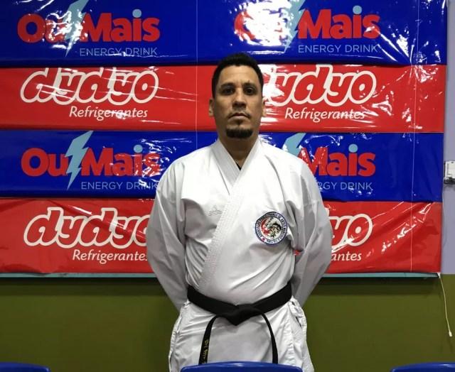 Técnico da seleção brasileira de karatê Paulo Franco Jr, em Porto Velho — Foto: Divulgação