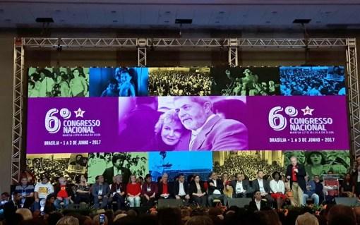 Cerimônia de abertura do 6º Congresso Nacional do PT, em Brasília (Foto: Fernanda Calgaro / G1)