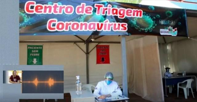 Centro de Triagem em Batayporã — Foto: Reprodução/ TV Morena