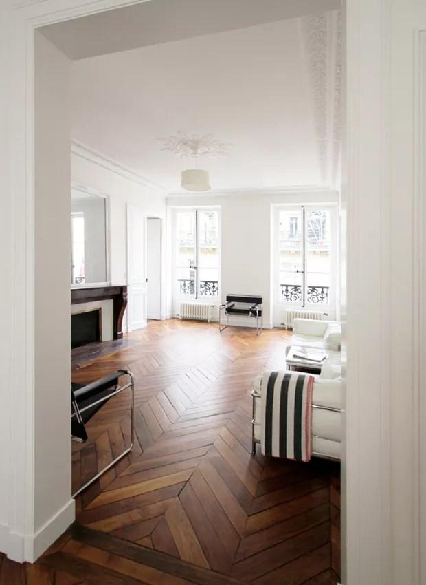 Estilo de piso chevron (Foto: Pinterest/Reprodução)