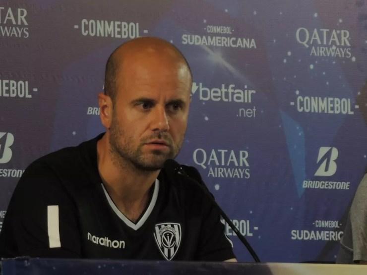 Miguel Ángel Ramírez, técnico do Independiente del Valle — Foto: Marcelo Braga