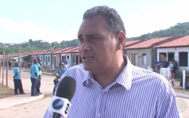 Vereador Jamil Ocké, de Ilhéus, é suspeito de envolvimento em fraude em licitações (Foto: Reprodução/TV Santa Cruz)