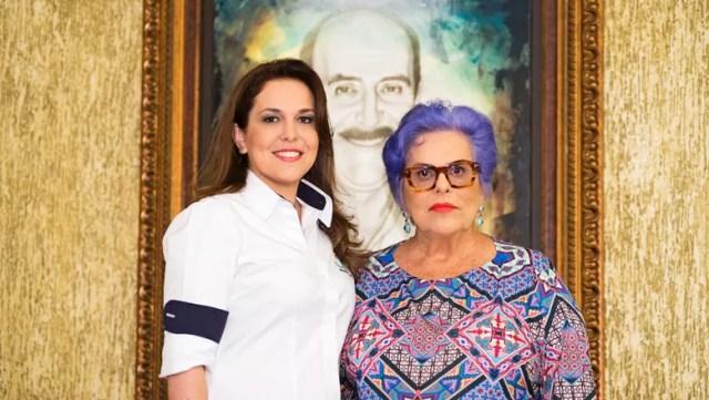 Sarita Rodas, ao lado da mãe Maria Teresa Junqueira Rodas (Foto: Divulgação)