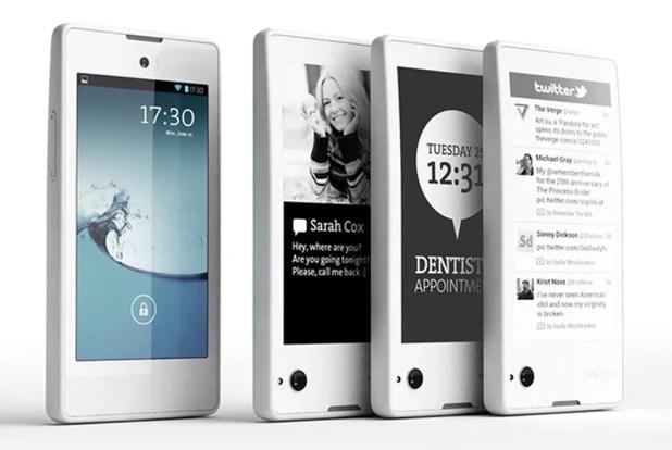 YotaPhone, híbrido de smartphone e e-reader  (Foto: Divulgação/Yota Devices)