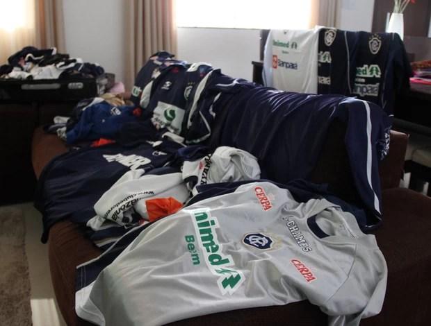 Coleção no Acre, torcedor tem 120 camisas do Remo (Foto: João Paulo Maia)
