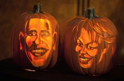 Museu exibe abóboras esculpidas com imagens de Obama e Michelle (Foto: Carlo Allegri/Reuters)