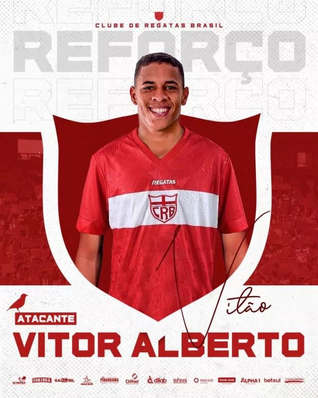 Vitão, atacante do CRB — Foto: Divulgação/Ascom CRB