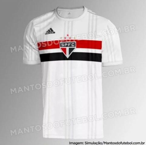 Suposta camisa do São Paulo para 2020 vaza — Foto: Reprodução/Mantos do Futebol