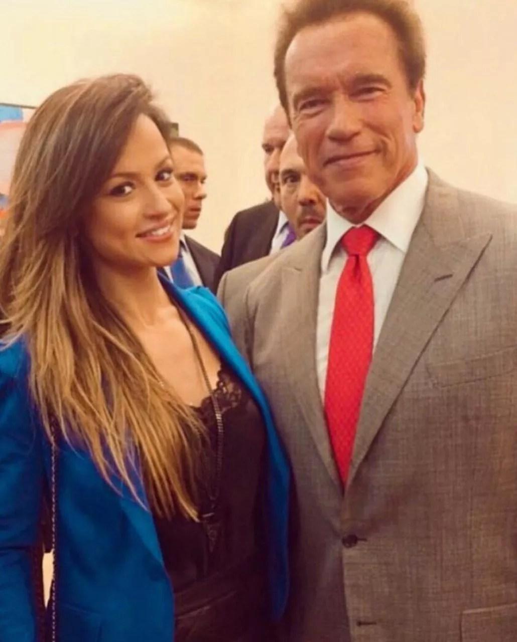 Alice Matos e Arnold Schwarzenegger (Foto: Reprodução: Instagram)