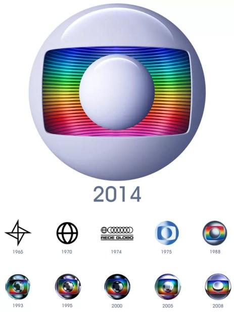 Confia a evolução da marca da Globo, desde 1965 até hoje, quando é lançada a nova (Foto: Globo)