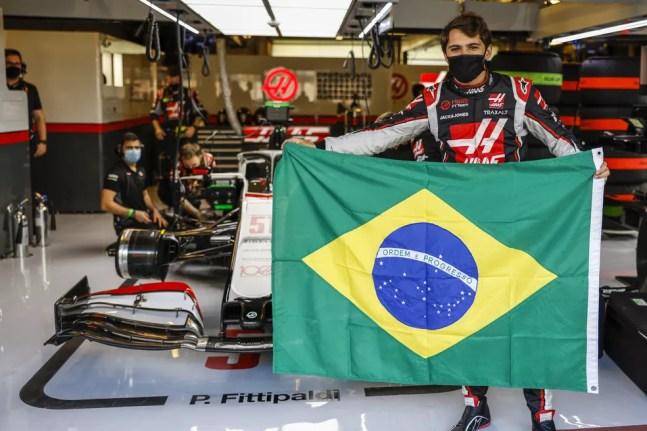 Pietro Fittipaldi foi primeiro representante do Brasil no grid da F1 desde 2017 — Foto: Divulgação/Haas
