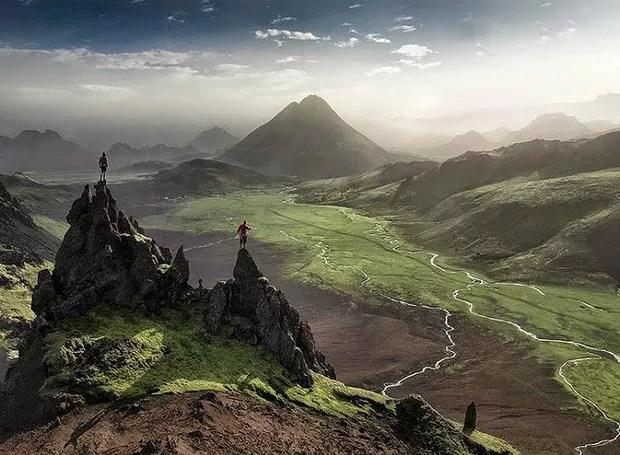 Fjallabaksleið, Islândia – Esta é uma estrada que liga o lado norte do país ao sul. Pelo caminho, belas vistas podem ser admiradas por quem anda pela região (Foto: Reprodução/Blogblux)