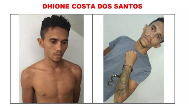Dhione Costa é procurado após fuga em presídio — Foto: Reprodução