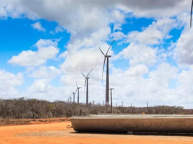 Voltalia iniciou operação do parque eólico de Areia Branca no fim do ano passado (Foto: Divulgação/Voltalia)