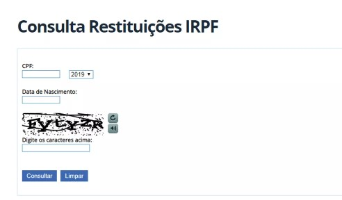 Consulte a restituição do IR