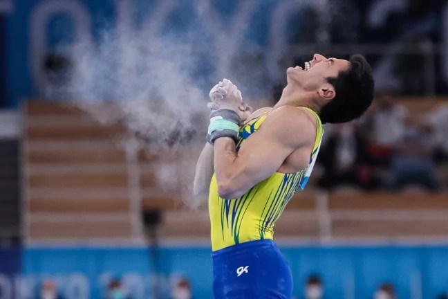 Arthur Nory nas Olimpíadas — Foto: Ricardo Bufolin/CBG