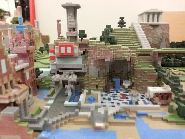 Criação de 'Minecraft' impressa em impressora 3D (Foto: Divulgação/Mr Eric Haines/Mineways)