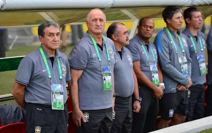 Parreira Felipão Scolari Brasil x Uruguai (Foto: Marcos Ribolli / Globoesporte.com)