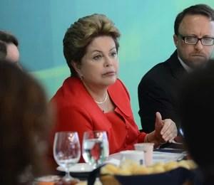 Em encontro com jornalistas na manhã desta quarta (18), no Palácio do Planalto, em Brasília (DF), Dilma Rousseff afirmou que não recebeu pedido formal de asilo político de Snowden (Foto: Antonio Cruz / ABr)