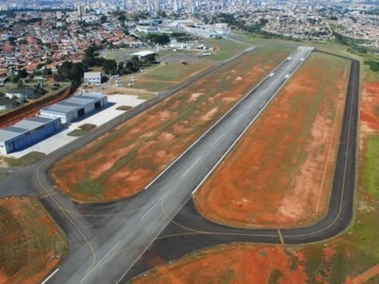 Aeroporto de Sorocaba fica na zona norte da cidade (Foto: Zaqueu Proença/PMS)