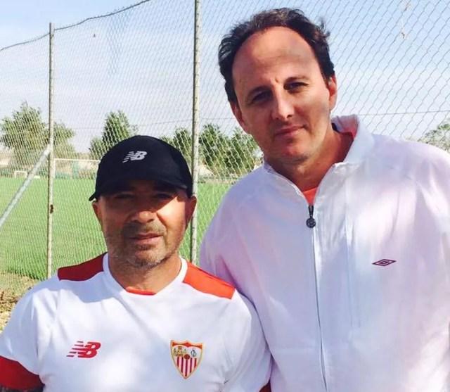 Ceni passou uma semana assistindo aos treinos de Sampaoli em outubro do ano passado (Foto: Divulgação)