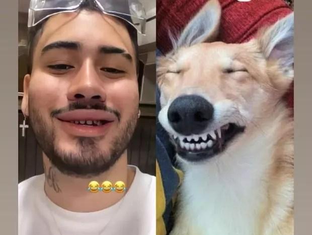 Kevinho rende memes ao trocar lentes de contato dos dentes (Foto: Reprodução/Instagram)