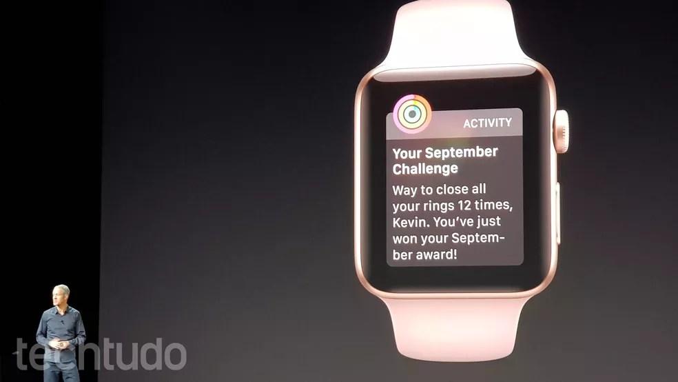 Apple Watch Série 3 funciona com a rede 4G/LTE, sem depender do iPhone (Foto: Thássius Veloso/TechTudo)