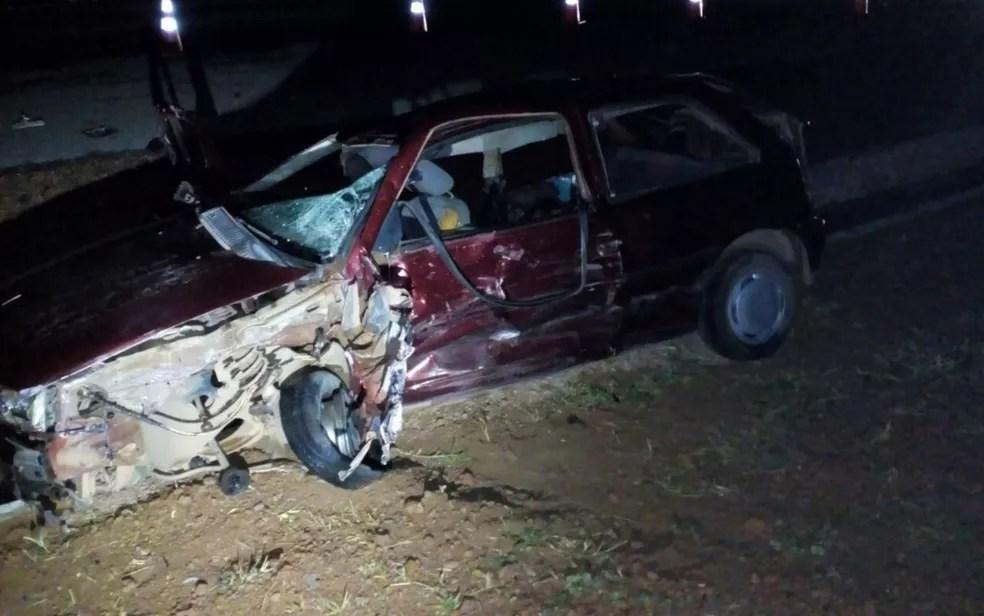 Acidente deixou seis pessoas mortas na BR-040 (Foto: Adeildo Martins/TV Anhanguera)
