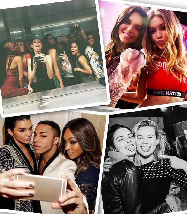 Cara Delevingne, Gigi Hadid, Bella Hadid, Behati Prinsloo, Olivier Rousteing, Lily Donaldson, Jourdan Dunn, Zoe Kravitz estão entre as celebridades que são amigas da top (Foto: Instagram/Reprodução)
