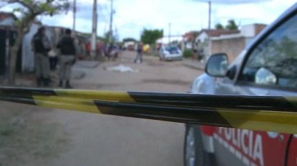 Homicídio aconteceu no bairro Colinas do Sul, em João Pessoa — Foto: Reprodução/TV Cabo Branco
