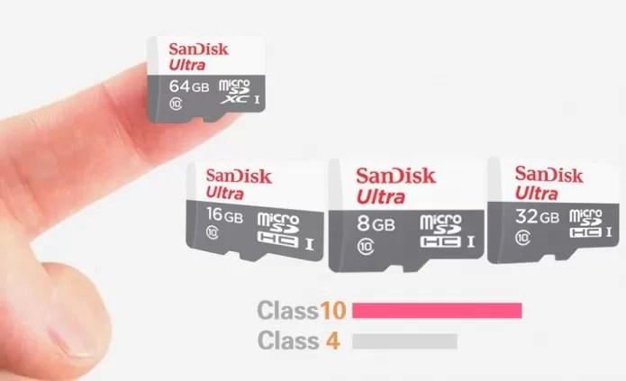 Cartão de memória: embora o mínimo seja de 16 GB, você pode escolher uma capacidade maior (Foto: Reprodução/Makemoneydigitals)