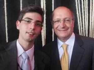 O representante do Brasil na Rio+20 e o governador, na data da entrega do relatório (Foto: Arquivo pessoal)