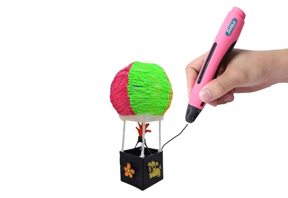As canetas 3D ajudam a criar novos objetos (Foto: Divulgação/Sunlu)