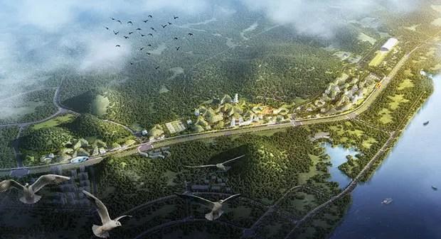 China constrói cidade 100% sustentável do zero (Foto: Divulgação)