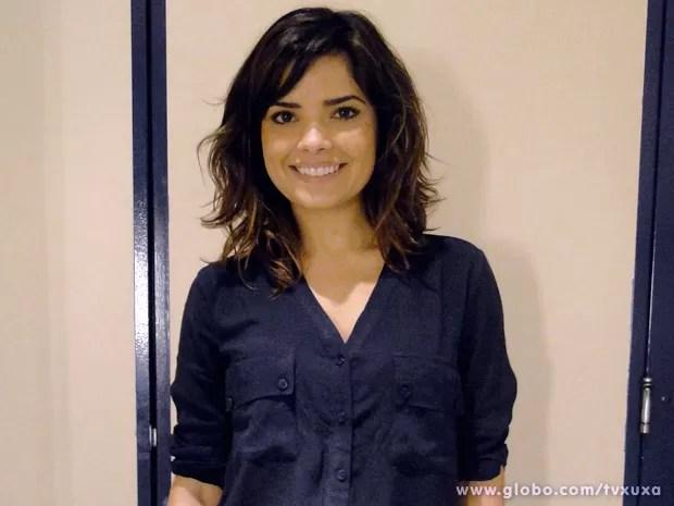 Vanessa Giácomo nos bastidores do TV Xuxa (Foto: TV Xuxa / TV Globo)