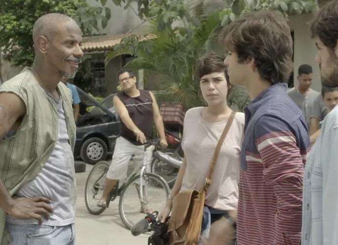 Fabinho, Jonatas e Leila por pouco não foram expulsos da comunidade (Foto: TV Globo)