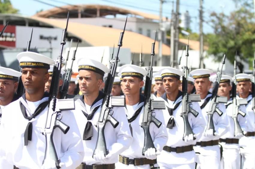 Marinha do Brasil também participa do desfile de 7 de Setembro, na Zona Sul do Recife (Foto: Marlon Costa/Pernambuco Press)