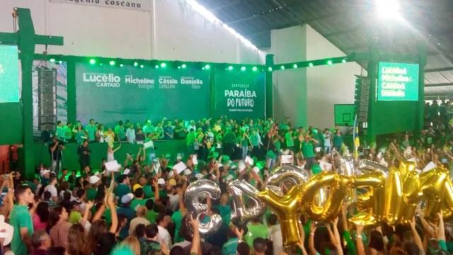 Convenção do PV aconteceu na manhã deste domingo no Centro de João Pessoa (Foto: Marcelo Lima/Jornal da Paraíba)