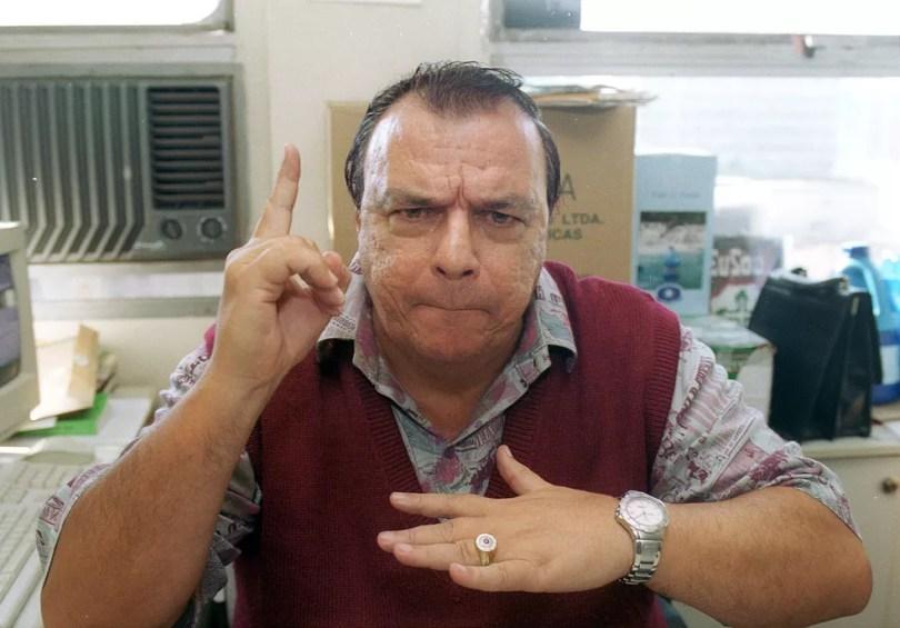 Gil Gomes em 2002 — Foto: Agilberto Lima/Estadão Conteúdo