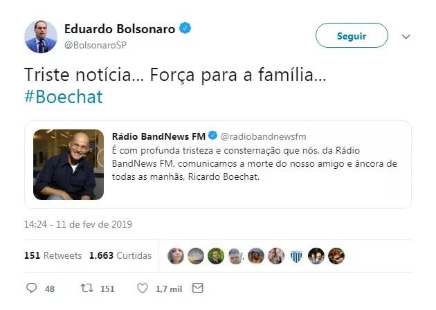 Eduardo Bolsonaro (Foto: Reprodução)