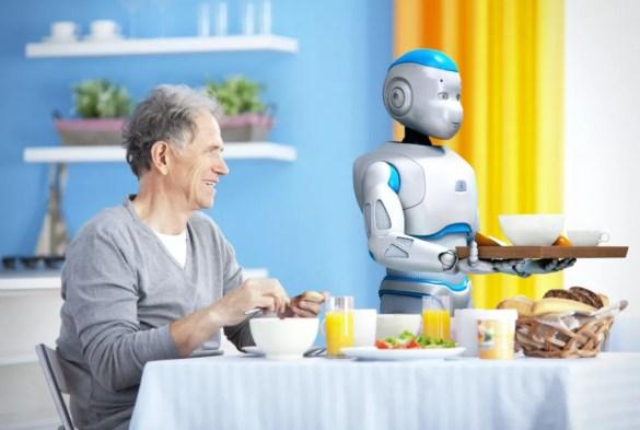 Romeo, robô da SoftBank Robotics, criado para fazer companhia a idosos (Foto: Divulgação/SoftBank Robotics)