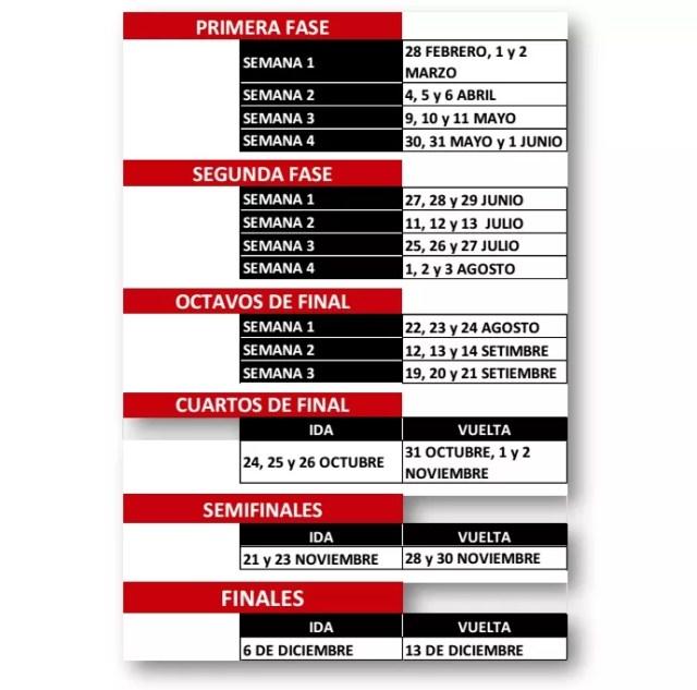 Calendário da Copa Sul-Americana 2017 (Foto: Reprodução)