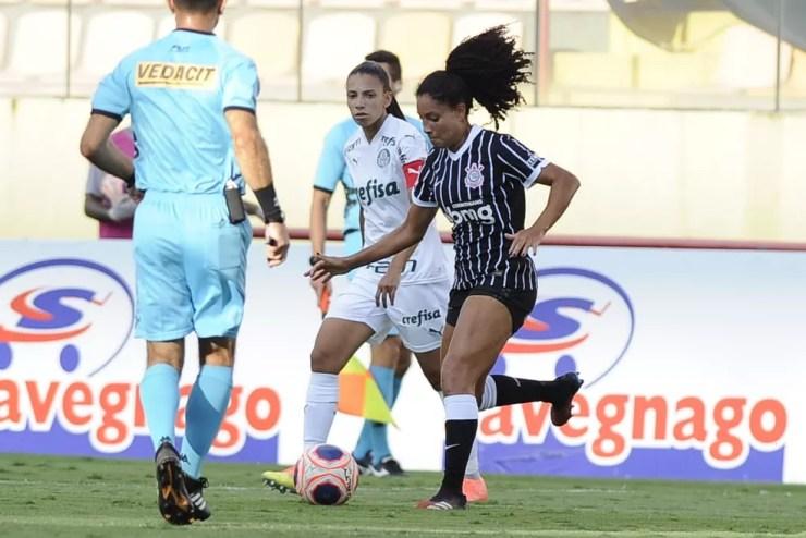 Corinthians e Palmeiras na Arena Barueri, pelo Paulistão Feminino — Foto: Rodrigo Corsi/FPF