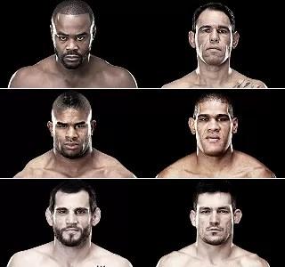 No card principal do UFC 156 ainda tem Rashad Evans x Rogério Minotouro, Alistair Overeem x Antônio Pezão e Jon Fitch x Demian Maia (Foto: Divulgação / UFC)
