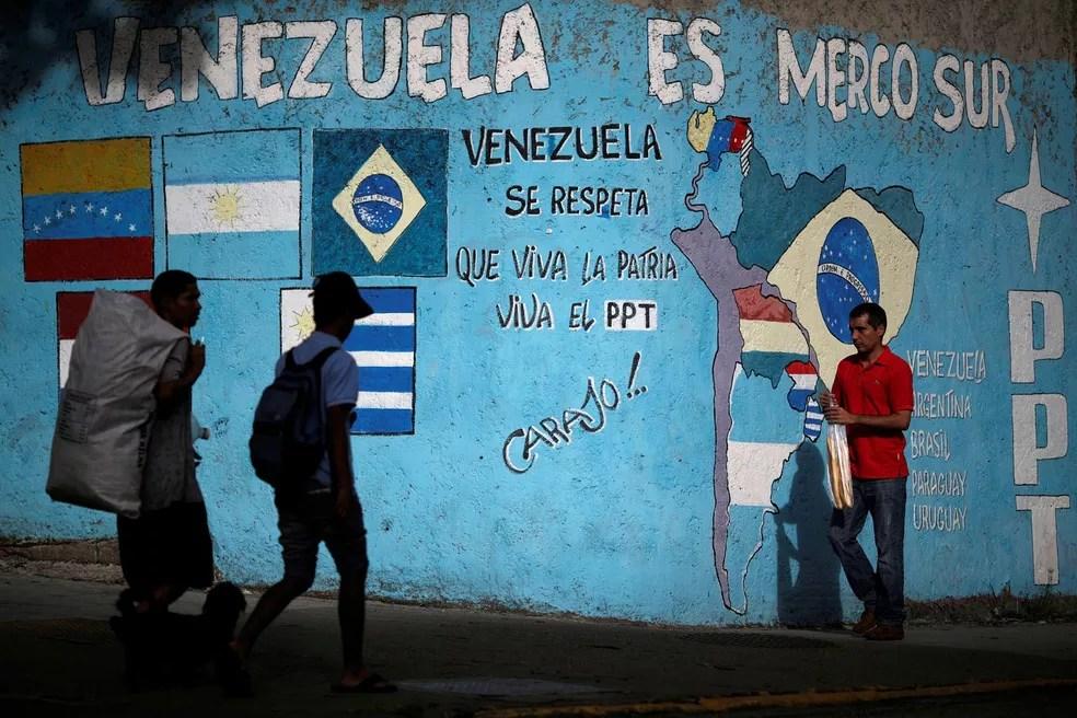 Chanceleres do Mercosul se reunirão nesta quarta-feira (14) em Buenos Aires, na Argentina, para a 11ª Reunião Extraordinária do Conselho do bloco, em meio a fortes tensões com a Venezuela (Foto: Ueslei Marcelino/Reuters)
