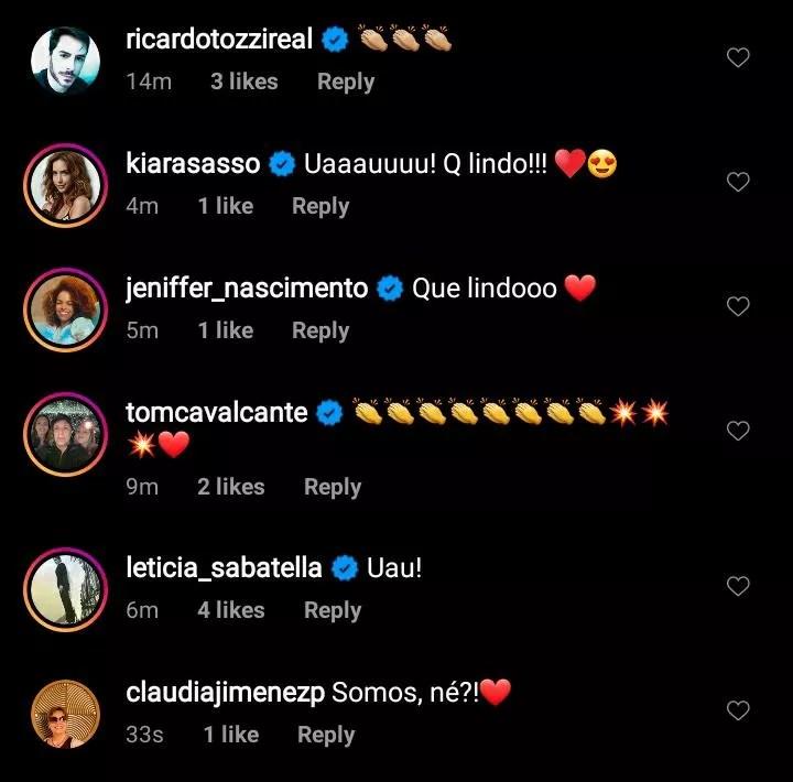 Famosos comentam nova tatuagem de Miguel Falabella (Foto: Reprodução/Instagram)