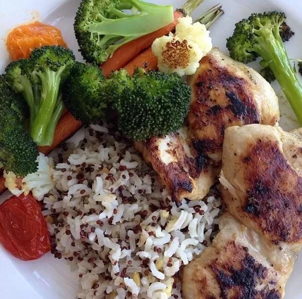 Thalia posta foto de seu prato de comida saudável (Foto: Instagram / Reprodução)