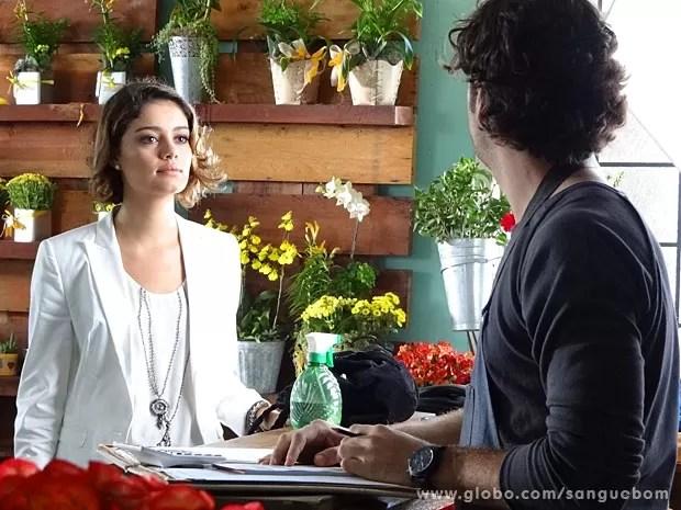 Amora tira satisfações com Bento (Foto: Sangue Bom / TV Globo)