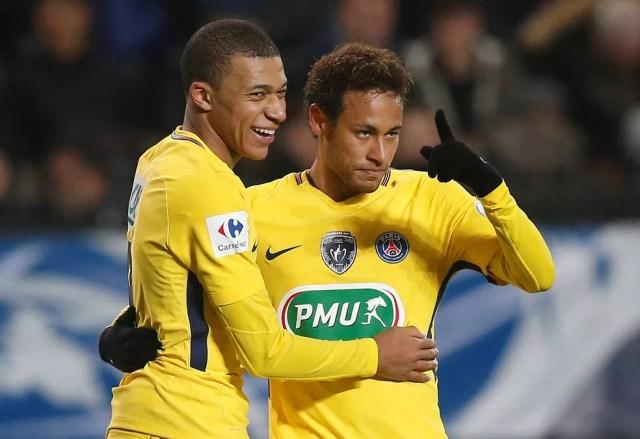 Mbappé e Neymar  (Foto: Stephane Mahe/Reuters)