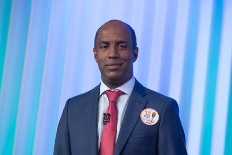 Marcelo Candido, candidato do PDT ao Governo de SP, durante debate no estúdio da Globo em São Paulo — Foto: Celso Tavares/G1